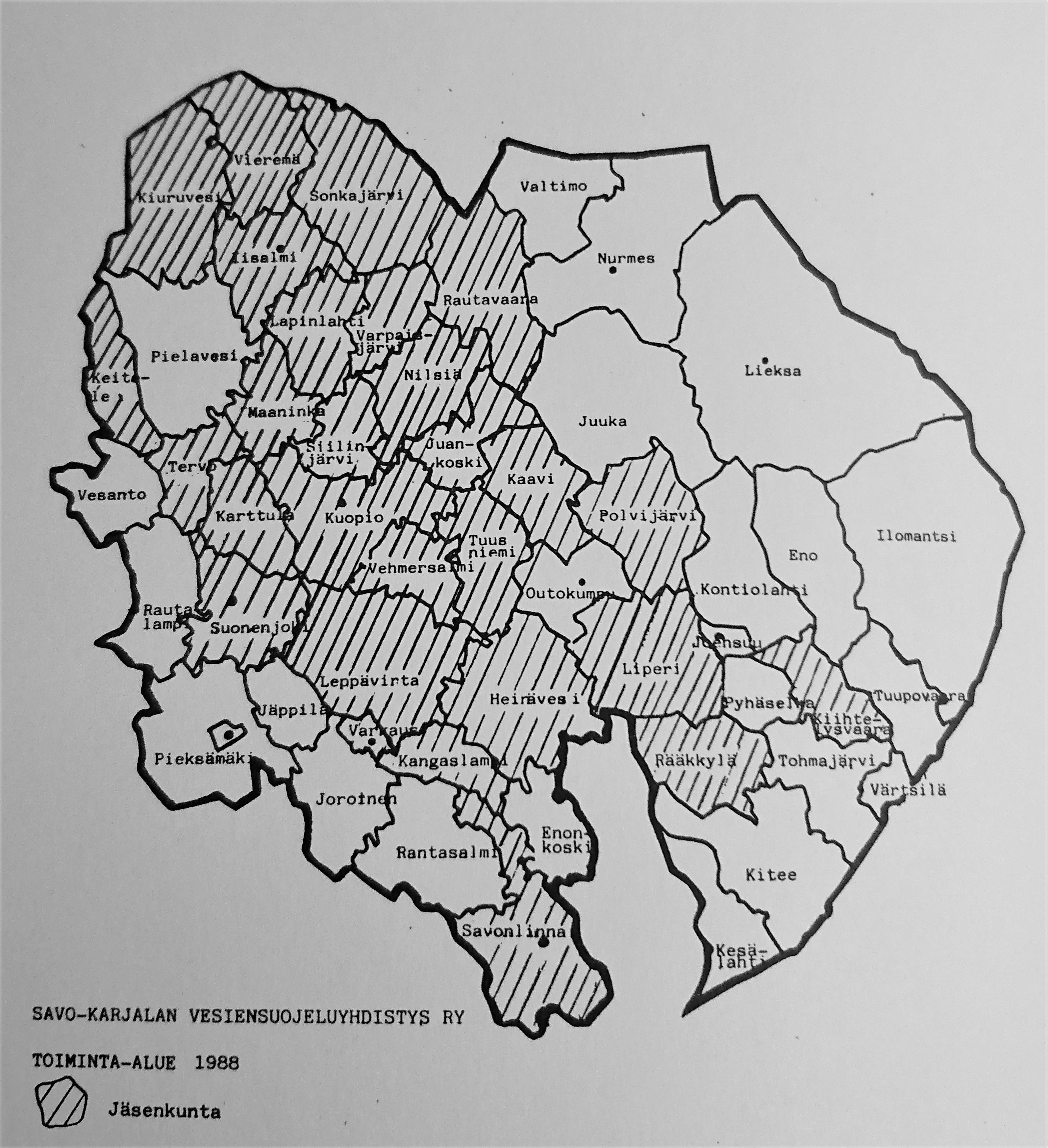 Toiminta-alue 1988