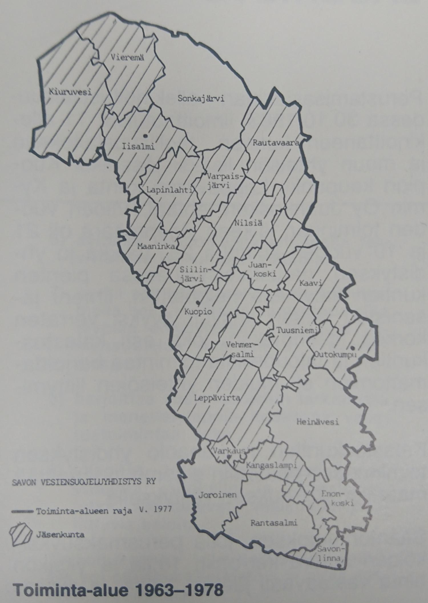 Toiminta-alue 1963
